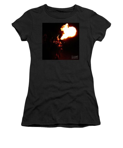 Women's T-Shirt featuring the photograph Fire Girl by Agusti Pardo Rossello