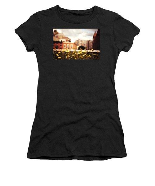 Flowers - High Line Park - New York City Women's T-Shirt (Junior Cut) by Vivienne Gucwa