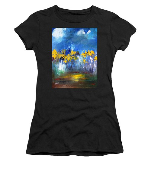 Flowers Of Maze In Blue Women's T-Shirt (Athletic Fit)