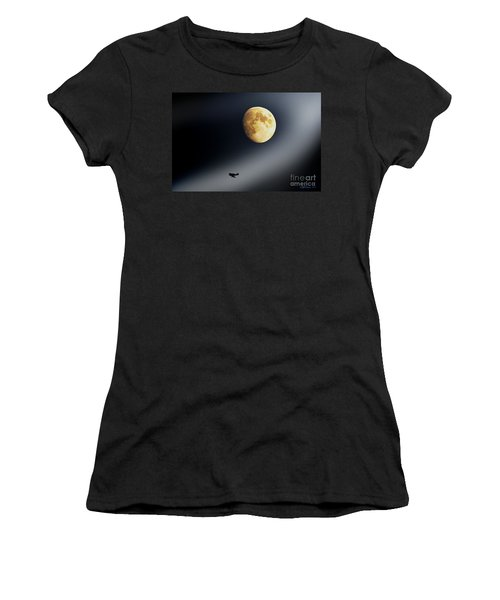 Women's T-Shirt (Junior Cut) featuring the photograph Fly Me To The Moon by Kevin J McGraw