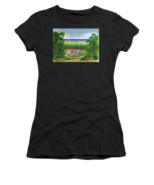 Foothills Of El Yunque Puerto Rico Women's T-Shirt (Junior Cut) by Frank Hunter