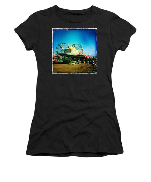 Women's T-Shirt (Junior Cut) featuring the photograph Fun At The Fair by Nina Prommer