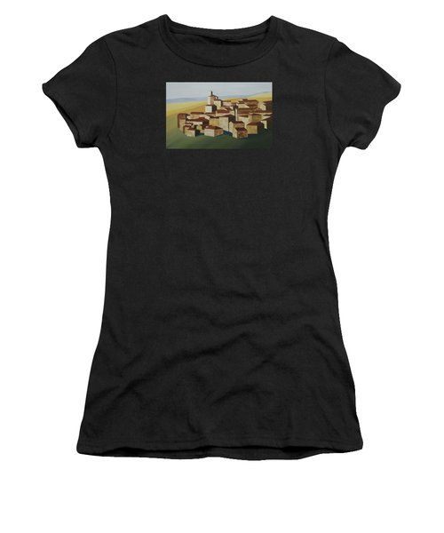 Cubist Village Spain Women's T-Shirt (Athletic Fit)