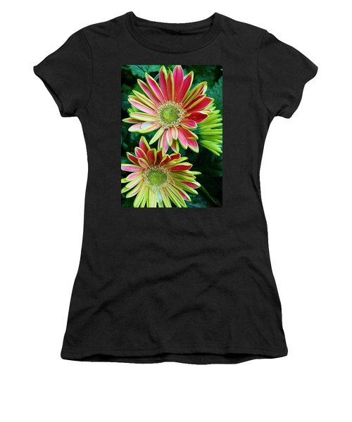 Gerber Daisies Women's T-Shirt (Junior Cut) by Bruce Bley