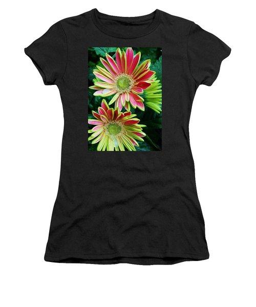 Women's T-Shirt (Junior Cut) featuring the photograph Gerber Daisies by Bruce Bley