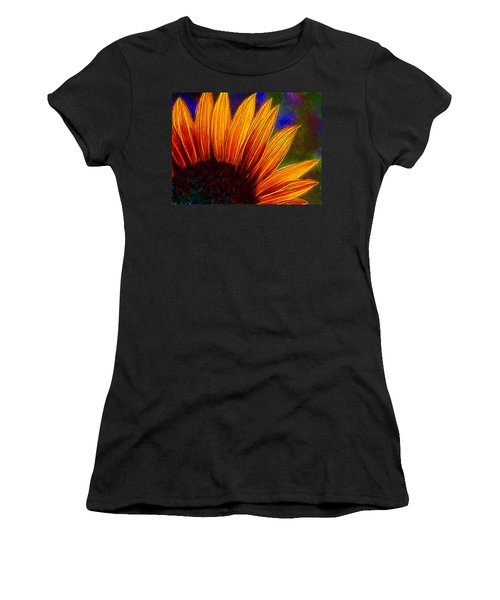 Glowing Sunflower Women's T-Shirt (Athletic Fit)