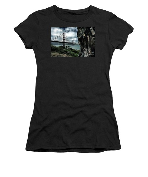 Women's T-Shirt featuring the photograph Golden Gate Bridge - 4 by Mark Madere
