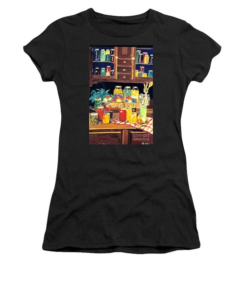 Women's T-Shirt (Junior Cut) featuring the painting Granny's Cupboard by Julie Brugh Riffey