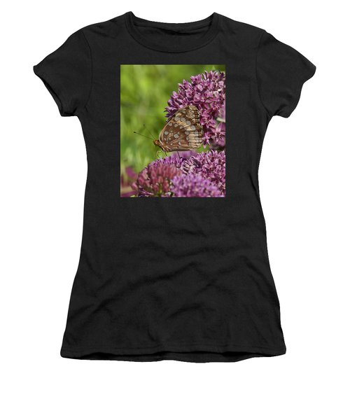 Great Spangled Fritillary Din194 Women's T-Shirt (Athletic Fit)