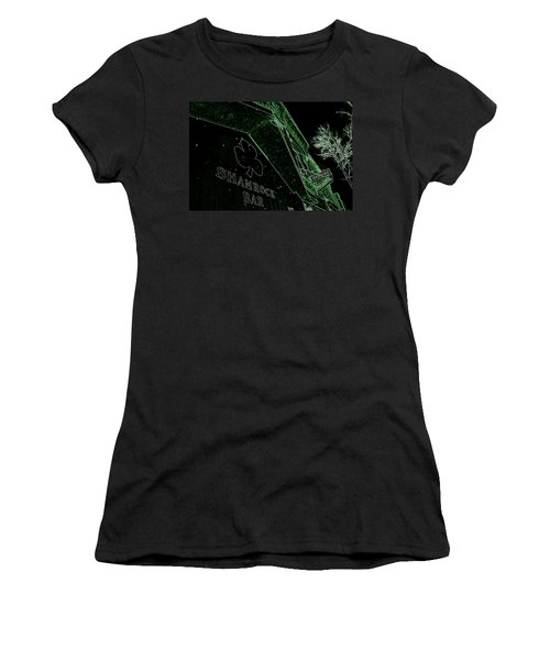 Green Night Women's T-Shirt (Athletic Fit)