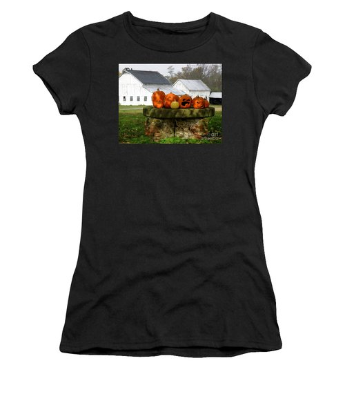 Women's T-Shirt (Junior Cut) featuring the photograph Halloween Scene by Lainie Wrightson