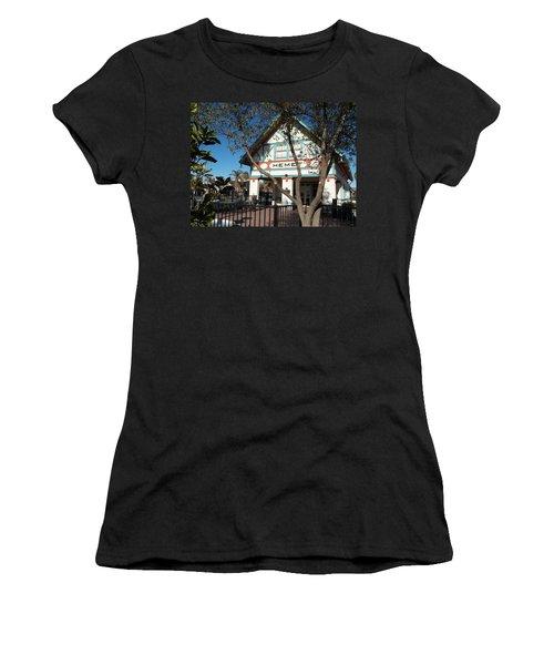 Hemet Museum-old Santa Fe Depot Women's T-Shirt (Athletic Fit)