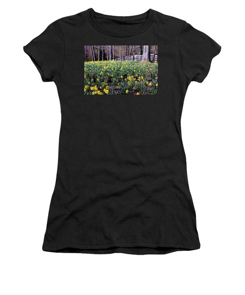 Hills Of Daffodils Women's T-Shirt (Junior Cut) by Betty Northcutt