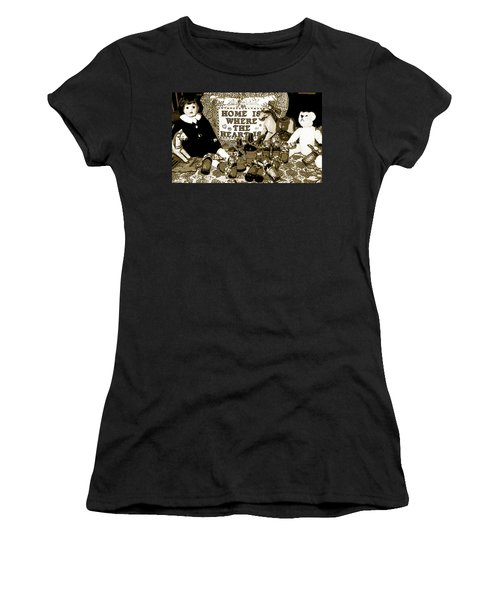 Women's T-Shirt (Junior Cut) featuring the photograph Home Americana Style by Pamela Hyde Wilson