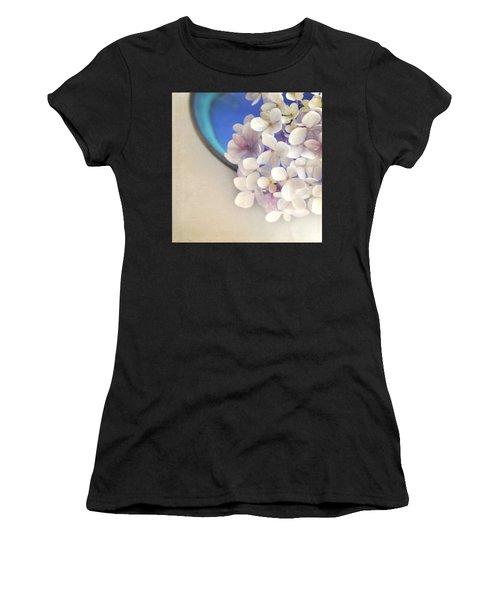 Hydrangeas In Blue Bowl Women's T-Shirt (Athletic Fit)
