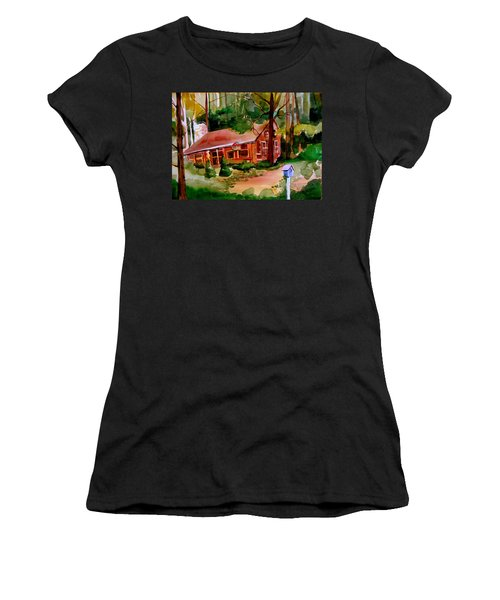 In A Cottage In The Woods Women's T-Shirt (Athletic Fit)