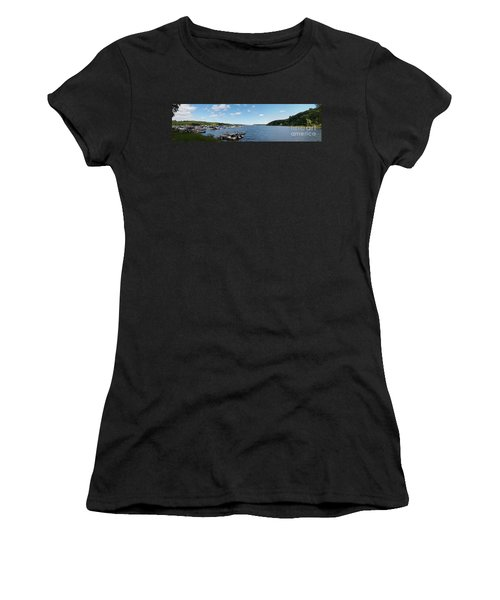 Women's T-Shirt (Junior Cut) featuring the photograph Irondequoit Bay Panorama by William Norton
