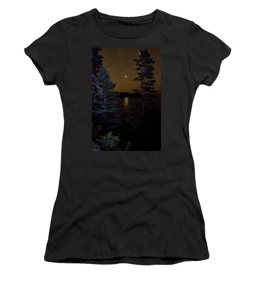 Jupiter Rising Over Otter Point Women's T-Shirt (Junior Cut) by Brent L Ander