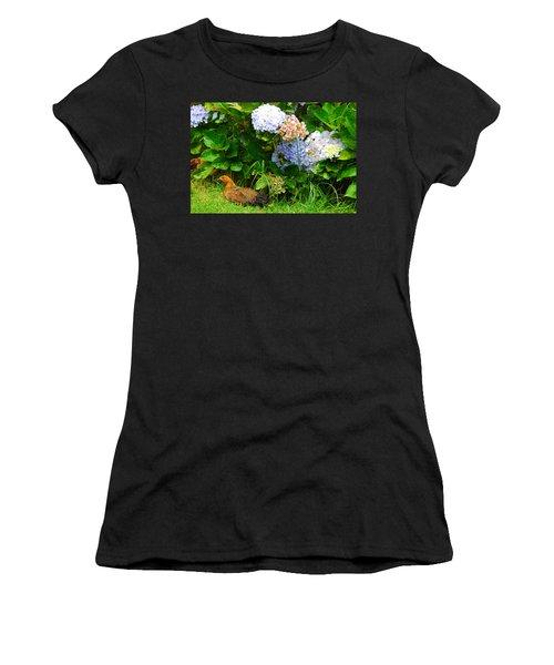 Kauai Wildlife Women's T-Shirt (Junior Cut) by Lynn Bauer