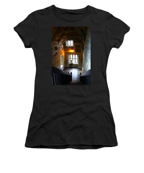 Women's T-Shirt (Junior Cut) featuring the photograph Lady In Waiting  by Charlie and Norma Brock