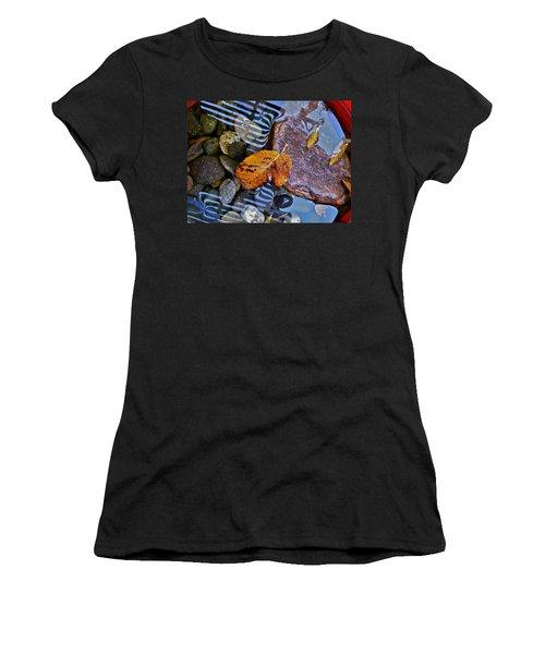 Leaves Rocks Shadows Women's T-Shirt (Junior Cut) by Bill Owen