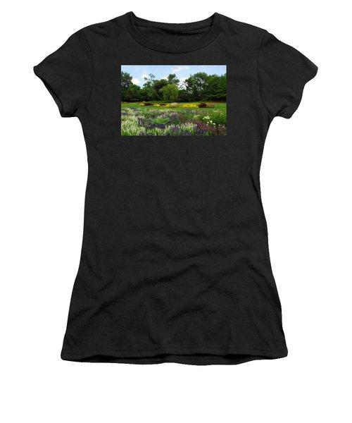 Lincoln Park Gardens Women's T-Shirt (Junior Cut) by Lynn Bauer