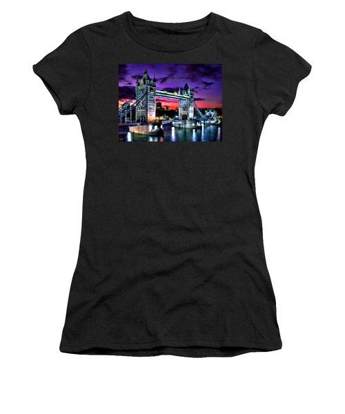 London Evening At Tower Bridge Women's T-Shirt