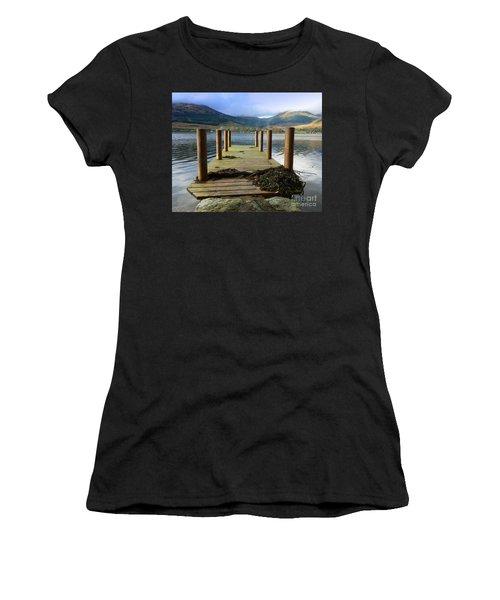 Women's T-Shirt (Junior Cut) featuring the photograph Long Walk Off A Short Pier by Lynn Bolt