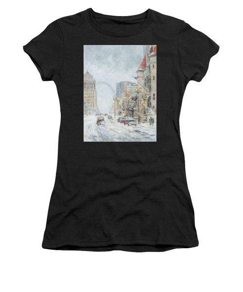 Market Street In Winter In St.louis Women's T-Shirt (Athletic Fit)