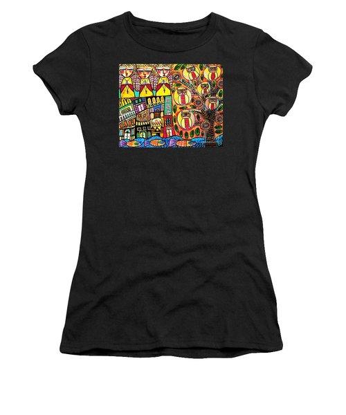 Mexican Seaside Village Women's T-Shirt