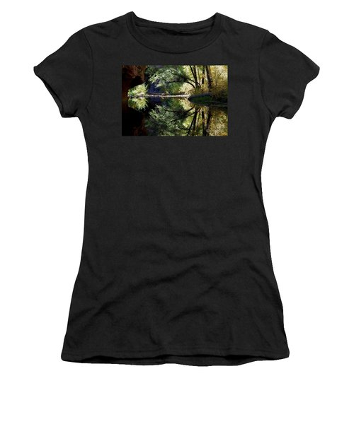 Women's T-Shirt (Junior Cut) featuring the photograph Mirror Reflection by Tam Ryan