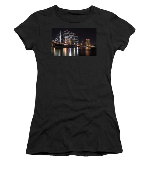 Women's T-Shirt (Junior Cut) featuring the photograph Missoula At Nighttime by Alice Gipson