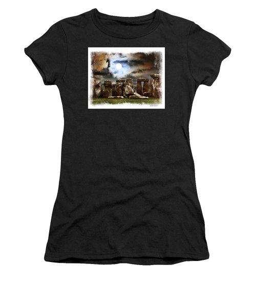 Moon Over Stonehenge Women's T-Shirt