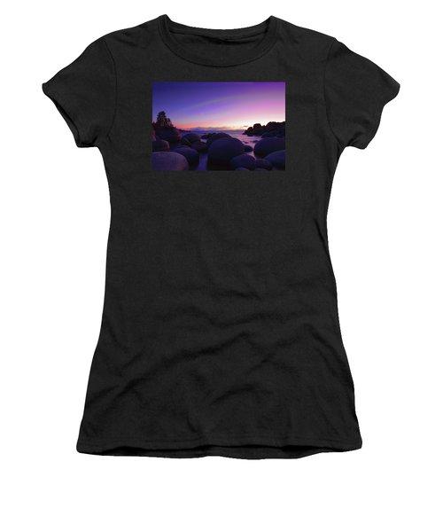 Moonrise Over Tahoe Women's T-Shirt