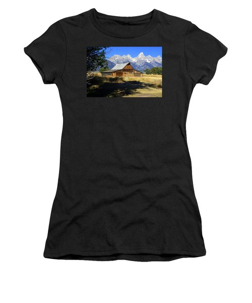 Women's T-Shirt (Junior Cut) featuring the photograph Mormon Row Barn by Marty Koch