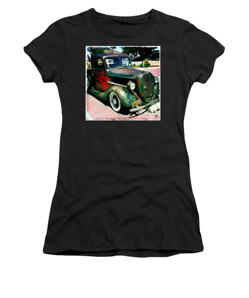 Women's T-Shirt (Junior Cut) featuring the photograph Morning Glory Coal Truck by Nina Prommer