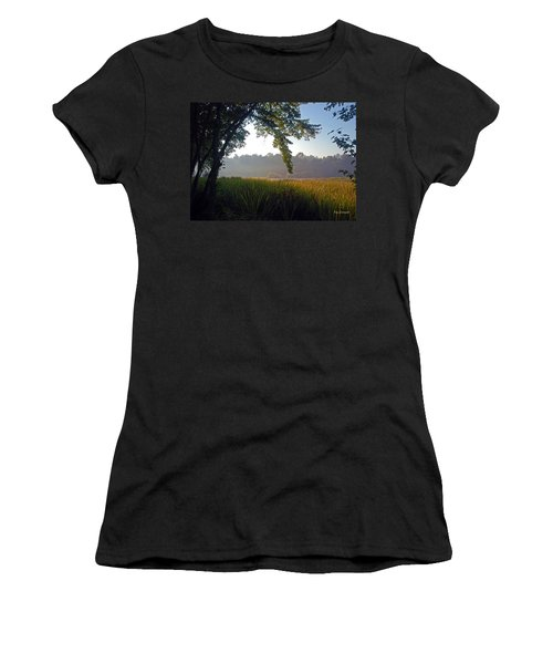Morning On The River Women's T-Shirt (Athletic Fit)