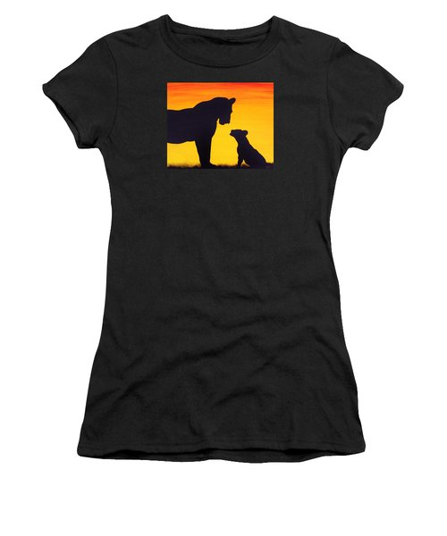 Women's T-Shirt (Junior Cut) featuring the painting Mother Africa 3 by Michael Cross