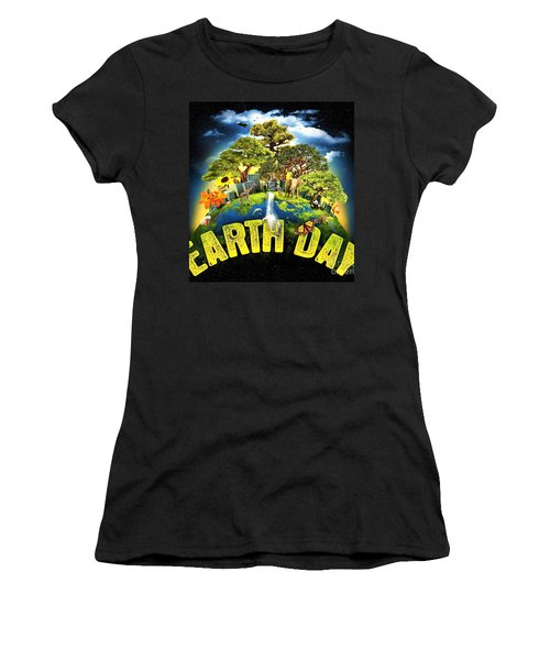 Mother Earth Women's T-Shirt (Junior Cut) by Pg Reproductions