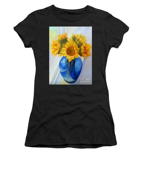 My Sunflowers Women's T-Shirt (Athletic Fit)