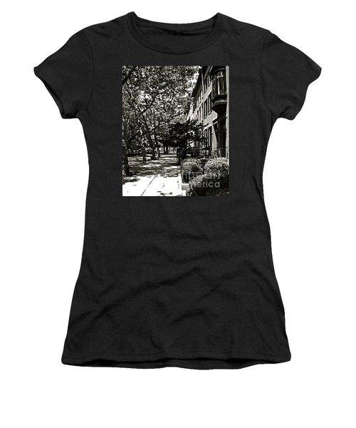Women's T-Shirt (Junior Cut) featuring the photograph New York Sidewalk by Eric Tressler
