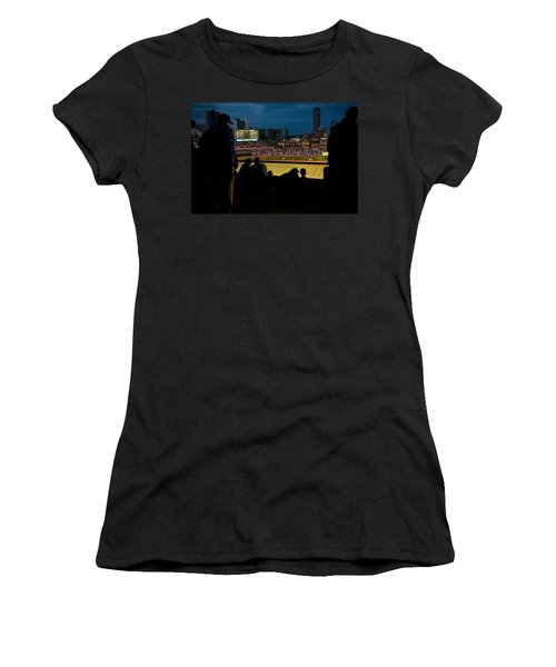 Night Game At Wrigley Field Women's T-Shirt (Athletic Fit)