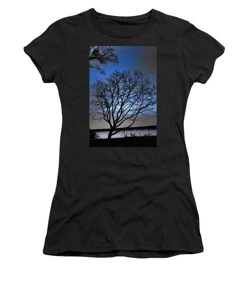 Night On The River Women's T-Shirt (Junior Cut) by Dan Stone