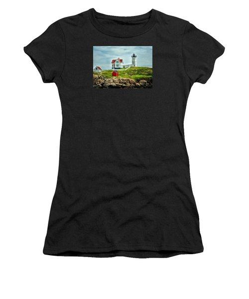 Nubble Lighthouse Women's T-Shirt (Athletic Fit)