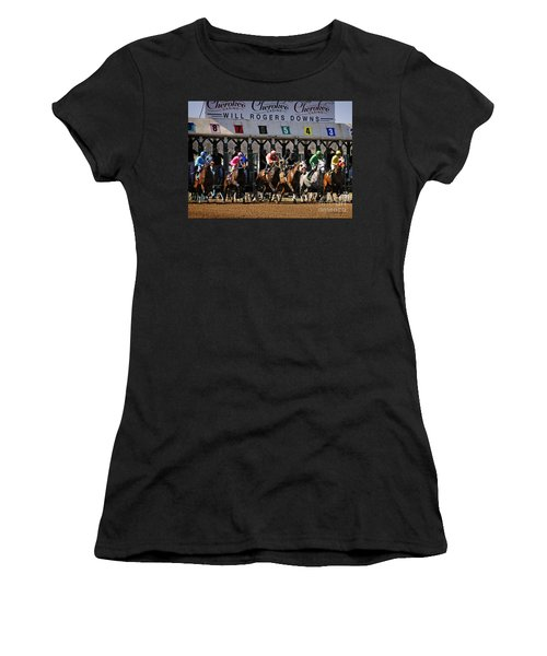 Oklahoma Horse Racing Women's T-Shirt (Athletic Fit)