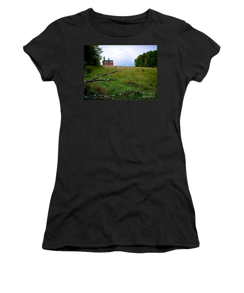 Old Red Barn On The Hill Women's T-Shirt