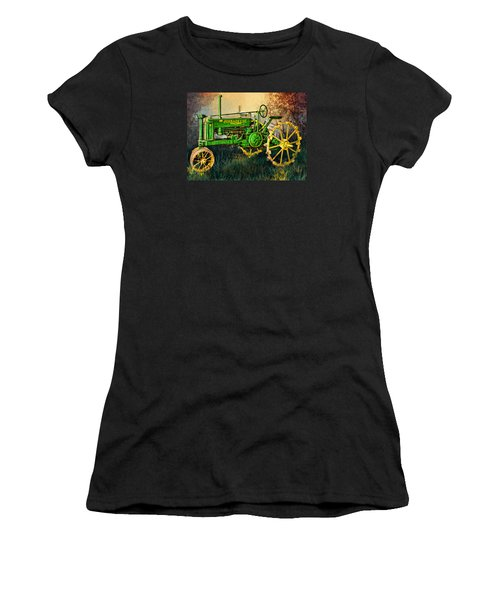 Women's T-Shirt (Junior Cut) featuring the digital art Old Tractor by Mary Almond