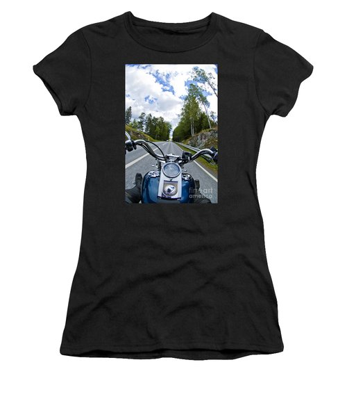 On The Bike Women's T-Shirt (Junior Cut) by Micah May