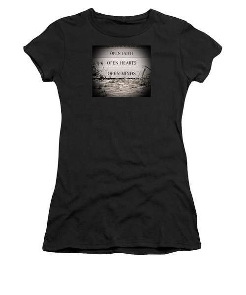 Women's T-Shirt (Junior Cut) featuring the photograph Openings by Jean Haynes