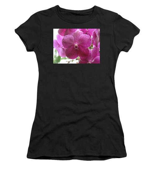 Orchid Cluster Women's T-Shirt (Athletic Fit)